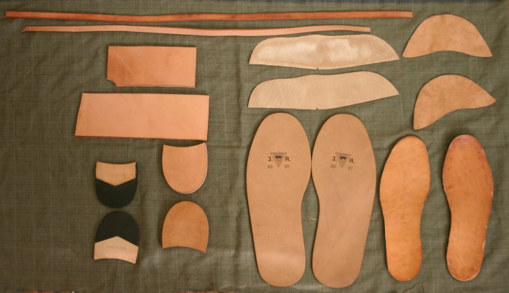 Custom leather shoe components