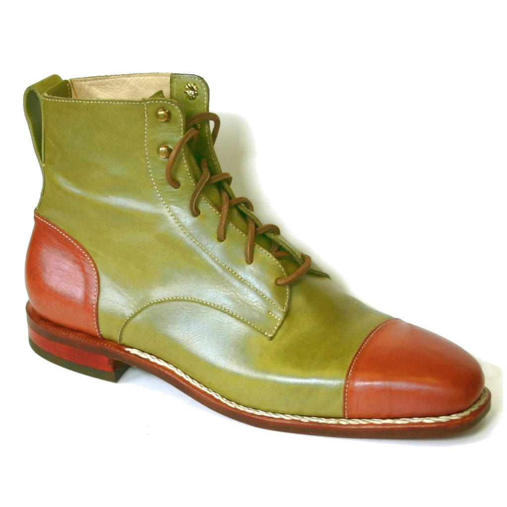 Green and Brown Gibson Boot